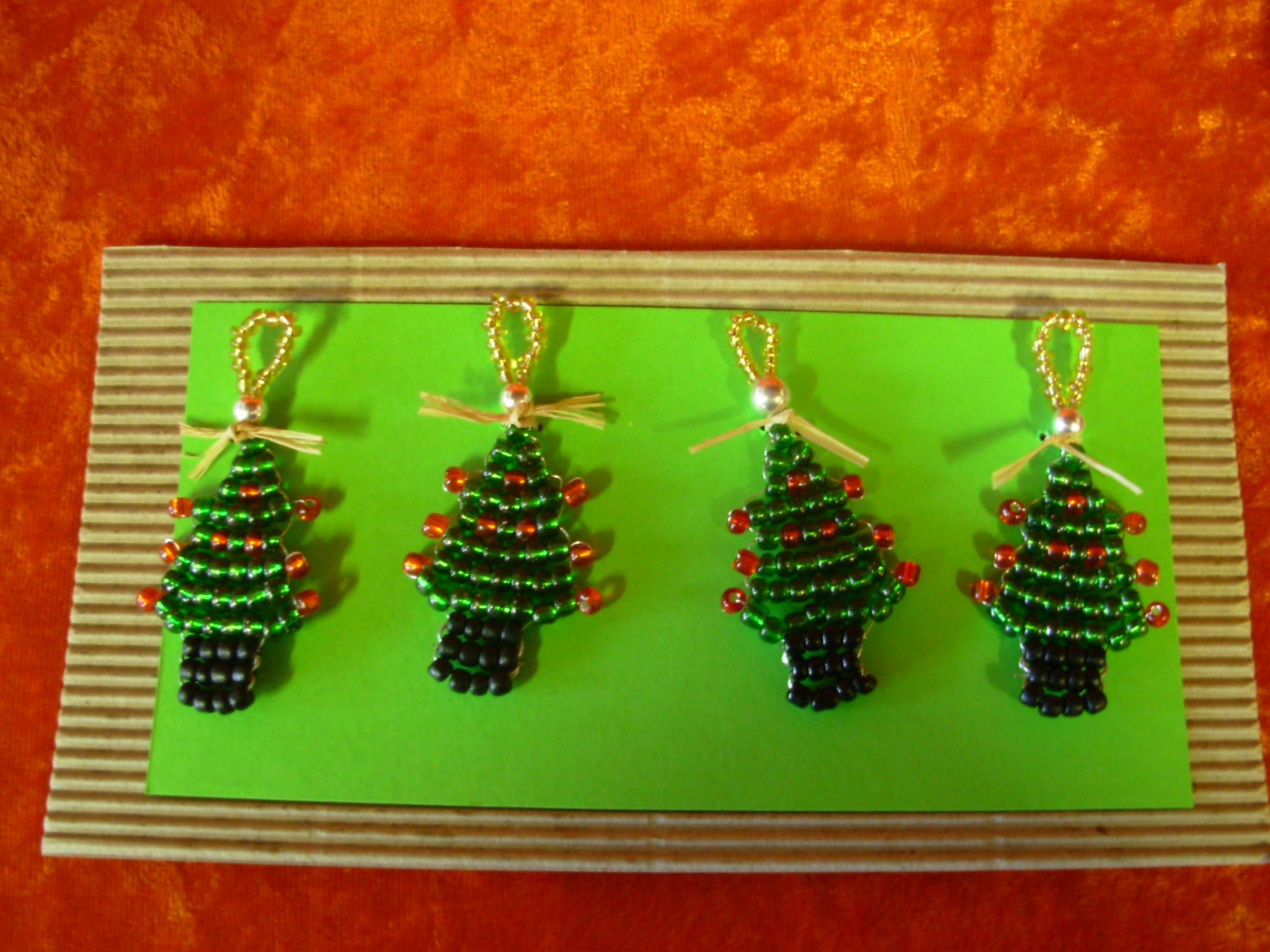 Wired Decorations (4) - Trees (Green)