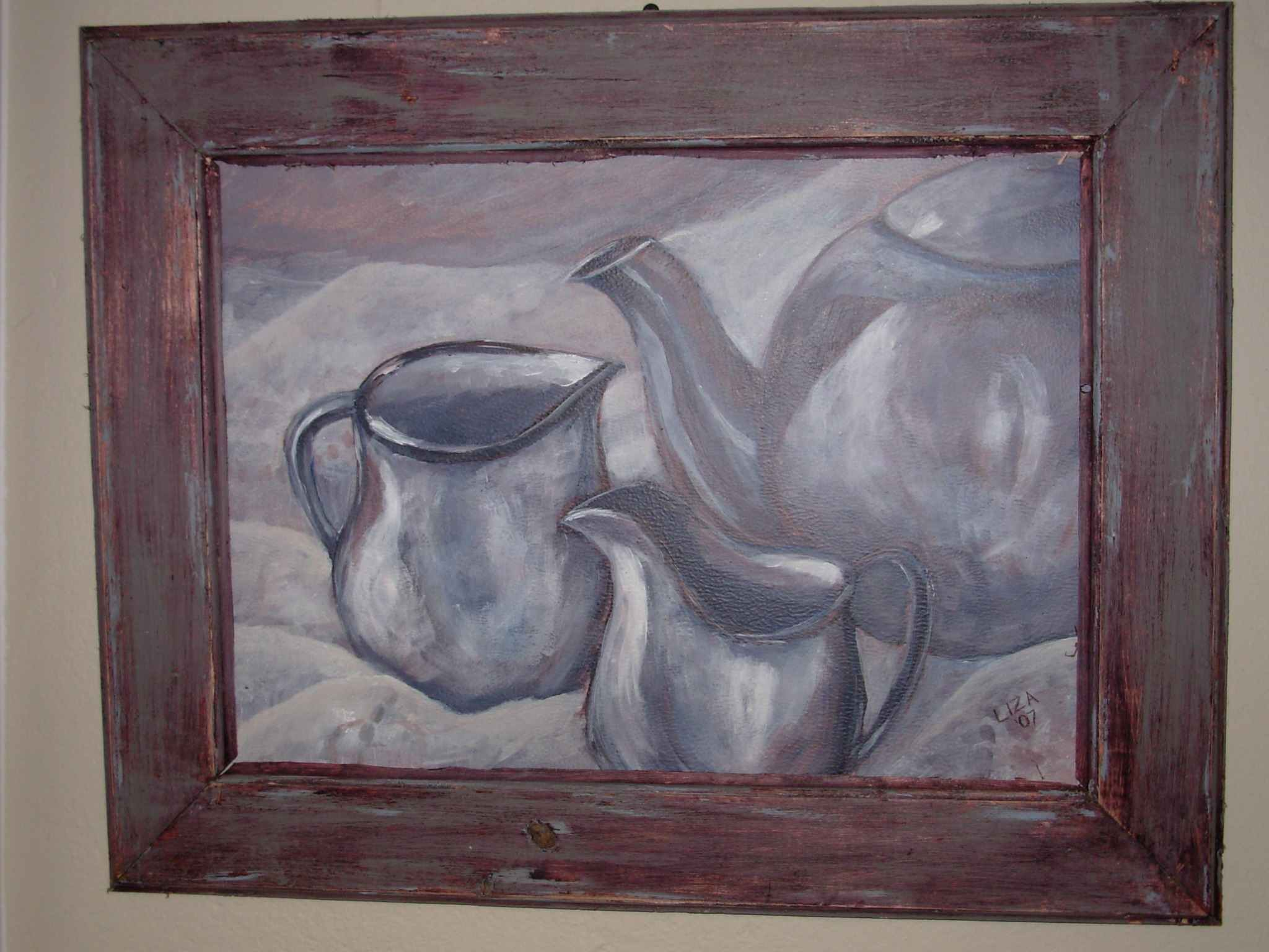 Still life - Teaset (Framed)